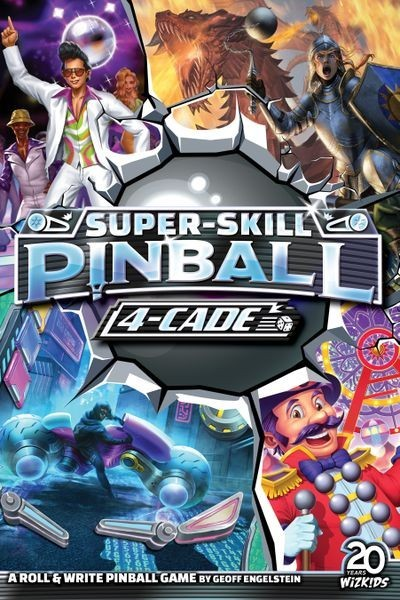 Super-Skill Pinball: 4-Cade by Geoff Engelstein Coming this Fall from WizKids