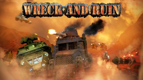 Wreck and Ruin - apocalyptic vehicle miniature violence - Kickstarter Launch!