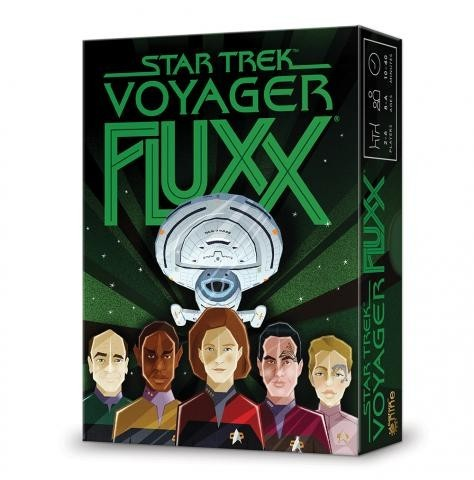 Set A Course. For Home- Star Trek: Voyager Fluxx Board Game Review