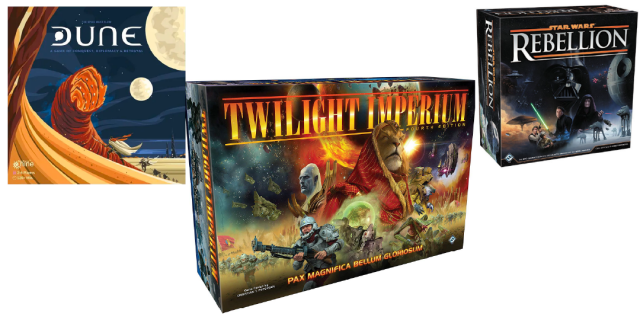 Dune, Twilight Imperium & Star Wars: Rebellion Giveaway