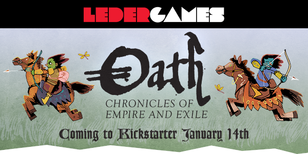 Leder Games Announces Oath: Chronicles of Empire and Exile by Cole Wehrle
