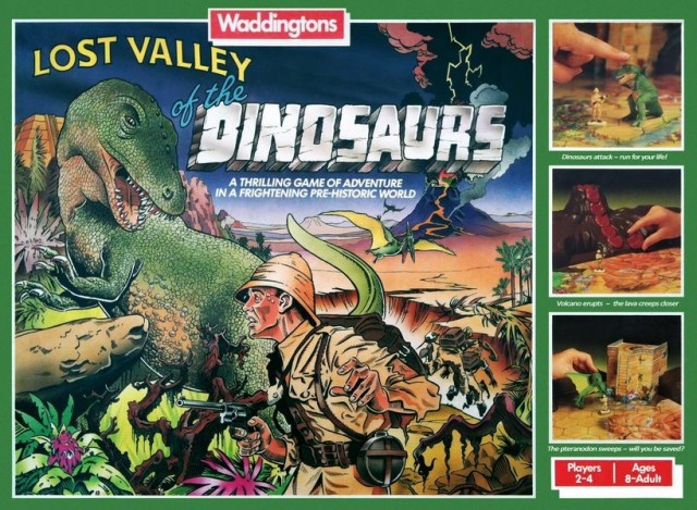 Vintage Board Game Review: Lost Valley of the Dinosaurs (1985)